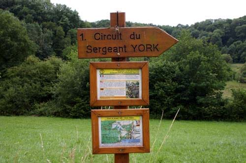 American Sergeant York historic trail at Châtel-Chéhéry.