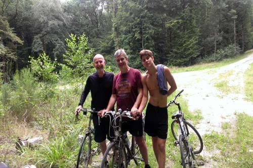 Cycle touring in the Argonne Forest